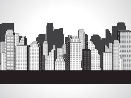 abstract corporate city buildings vector illustration