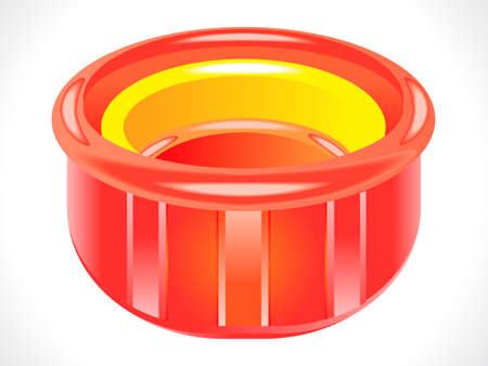 soap suds: plastic glossy red tub vector illustration Illustration