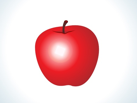 greengrocery: red shiny apple fruit vector illustration Illustration