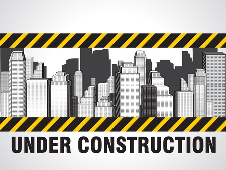 abstract construction buildings vector illustration Stock Vector - 9301364