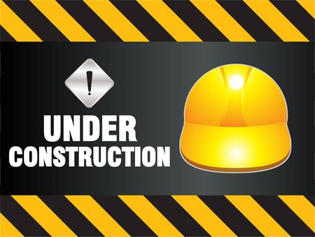 dangerous construction: abstract construction background vector illustration