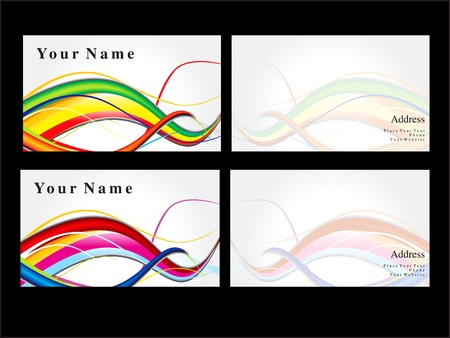 abstract business cards template vector illustration Vector