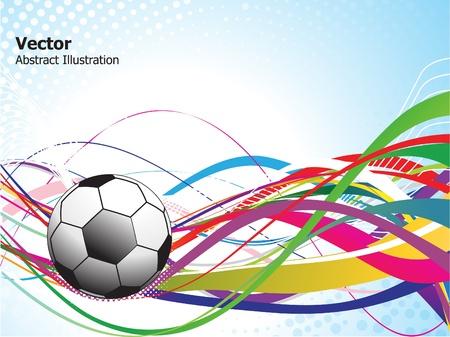 cerillos: Ilustraci�n de vector de fondo de f�tbol colorido abstracto Vectores