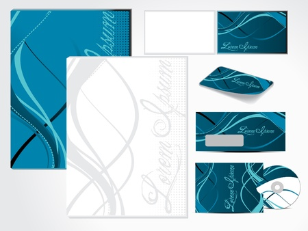abstract grunge based corporate id vector illustration Vector