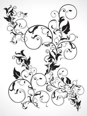 abstract multiple floral  vector illustration Stock Vector - 9301377