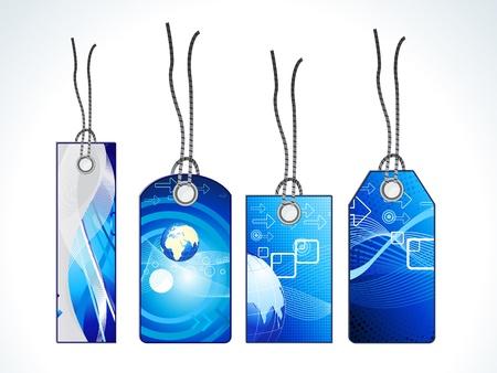 abstract digital tags vector illustration Stock Vector - 9301396