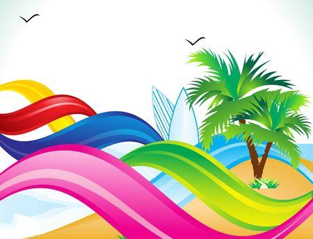 abstract summer beach background vector illustration Stock Vector - 9301372