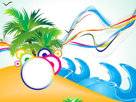 abstract summer beach background vector illustration Stock Vector - 9301384