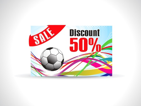 discount card: abstract colorful discount card vector illustration Illustration