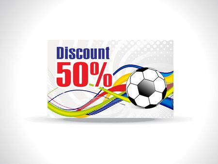 abstract colorful discount card vector illustration Stock Vector - 9328805