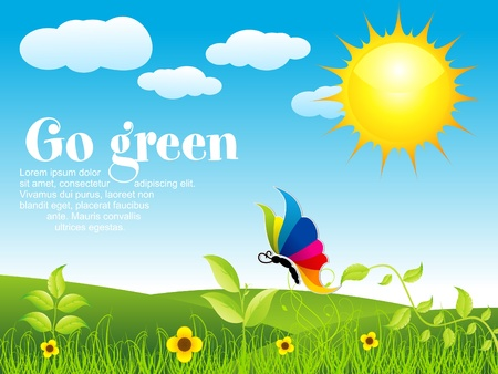 environment friendly: abstract eco background vector illustration Illustration