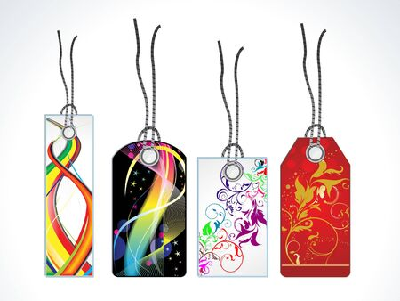 abstract coorful tags vector illustration Stock Vector - 9328807