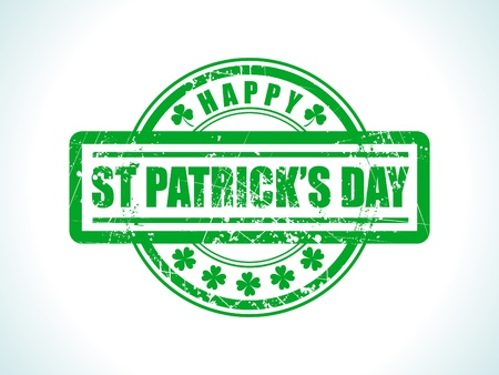 abstract st patrick stamp vector illustration Stock Vector - 9328814