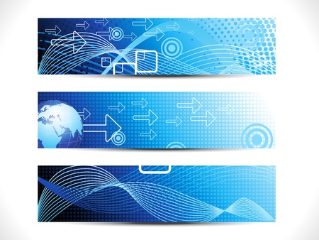 abstract digital web header set vector illustration Stock Vector - 9341161