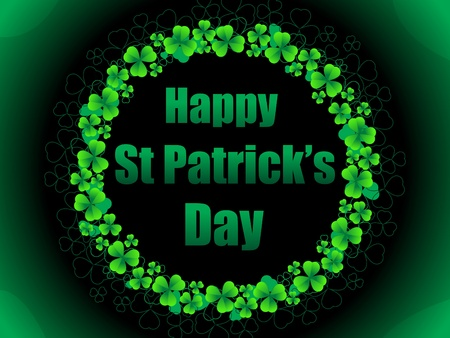 abstract st patrick background vector illustration Stock Vector - 9341160