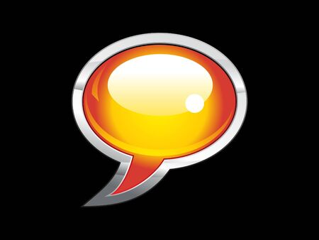 abstract shiny chat icon  Vector