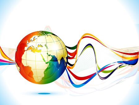 network card: abstract colorful corporate background globe