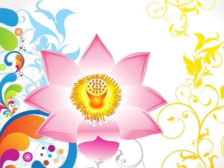 abstract colorful lotus background Vector