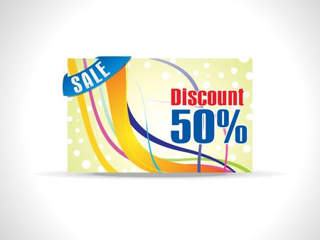 abstract colorful discount card Stock Vector - 9509240