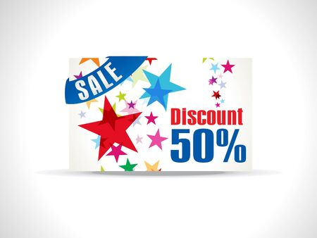 prepaid: abstract colorful discount card  Illustration