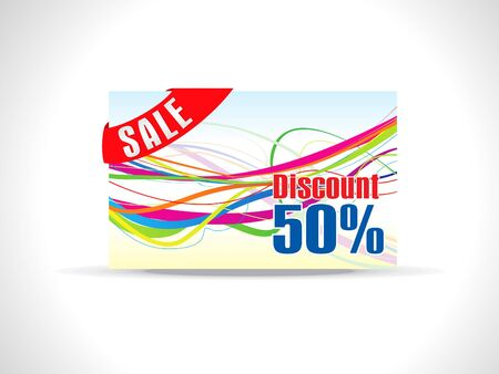 abstract colorful discount card Stock Vector - 9509235