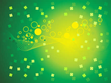 abstract st patrick background vector illustration Stock Illustration - 9551818