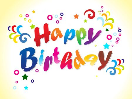 Abstract Birthday Card With Text Vector Illustration Royalty Free