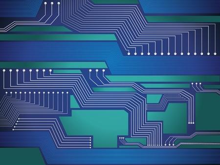 electronic elements: astratto lucido blue chip design illustrazione vettoriale Vettoriali