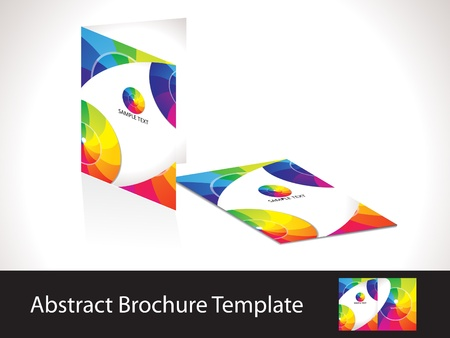 readymade: abstract colorful rainbow brochure template vector illustration