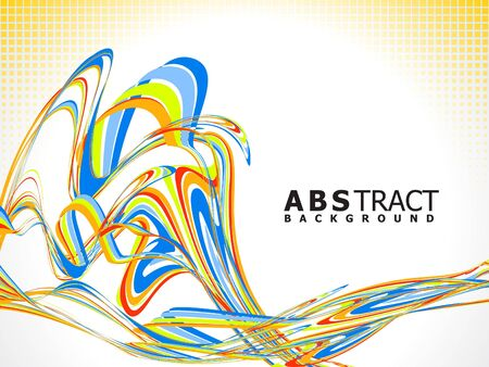 abstract colorful line wave vector illustration Stock Vector - 9940948