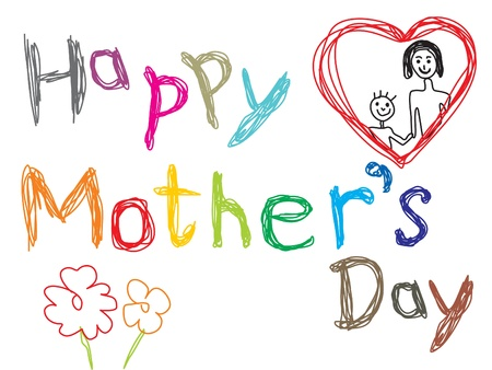 abstract mothers day background vector illustration