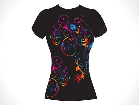 abstract girl tshirt floral design vector illustration Vector