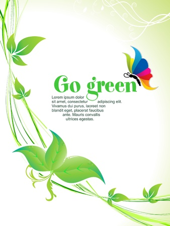 save earth: abstract go green background  vector illustration