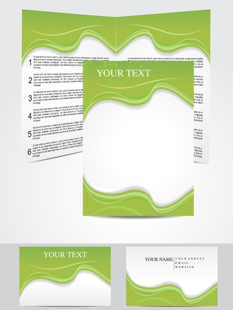 corporative: abstract green based corporate design template vector illustration