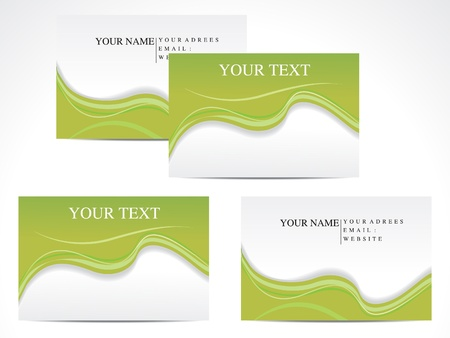 based: abstract green based business card template vector illustration