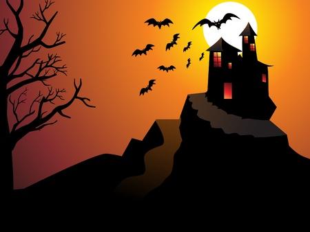abstract halloween wallpaper vector illustration Stock Vector - 9940885
