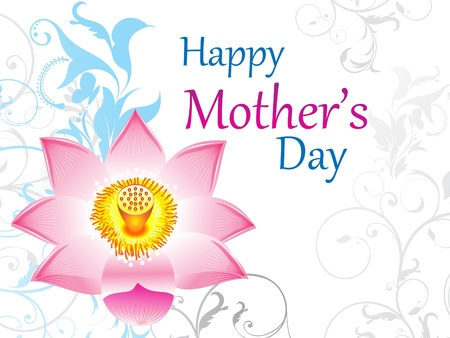 abstract mothers day background vector illustration Vector