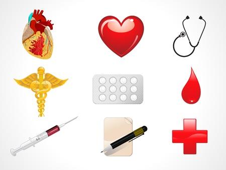 medical box: abstract medical icons vector illustration