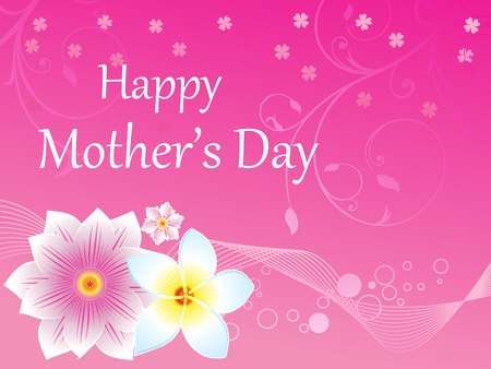 abstract mother's day background vector illustration Vector Illustration