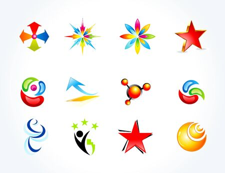 star logo: abstract multiple business templates vector illustration Illustration