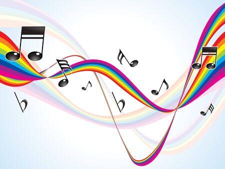 abstracte kleurrijke regenboog muzikale golven vector illustratie