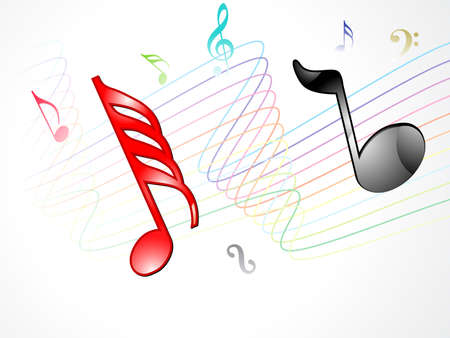 abstract musical background vector illustration Vector