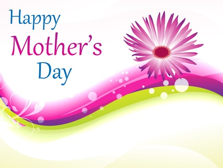 abstract mother's day background vector illustration Stock Vector - 9941070