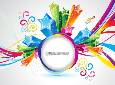 rainbow abstract: abstract colorful rainbow magical explode vector illustration