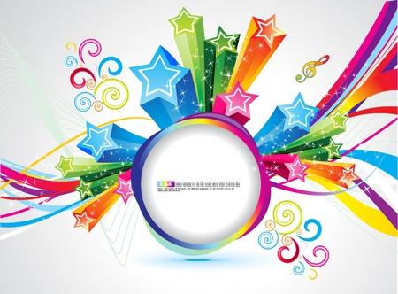 arcoiris: Arco Iris colorido abstracto m�gico explotar ilustraci�n vectorial Vectores