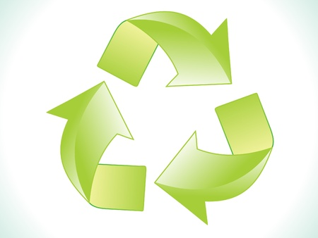 abstract green shiny eco recycle icon vector illustration Stock Vector - 9940907