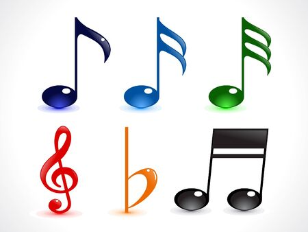 abstract colorful shiny musica word vector illustration Vector