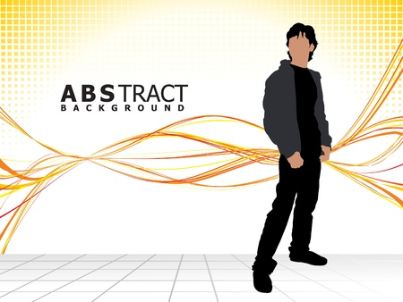fashion silhouette: abstract stylish fashion silhouette with background vector illustration
