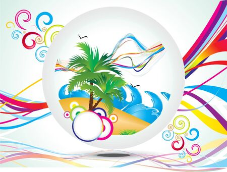 abstract rainbow summer holiday background vector illustration Stock Vector - 9940976