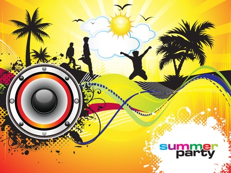 in the summer: abstract summer party background vector illustration Illustration